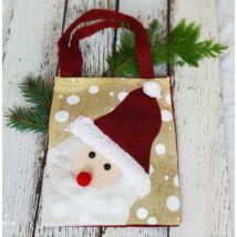 Mikulás zsák ajándék csomagolás 4 termékhez (18x15x5 cm)