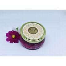 Bőrradír rózsás parajdi sóval, organikus szőlőmag-, mandula- és olíva olajjal 280g