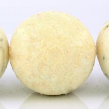 Napvirág doboz - választott termék: Fürdőgolyó organikus shea vajjal, édes narancs illóolajjal és naranccsal 90g