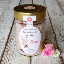 Parajdi fürdősó organikus rózsa-geránium illóolajjal és rózsaszírmokkal 350g