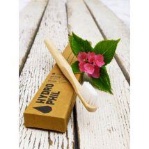 Fogkefe bambusz Hydrophil bambusz közepes sörtével, felnőtt méretben, natúr nyéllel