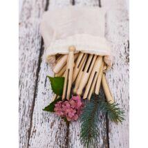 Ruhacsipesz hagyományos natúr Redecker fa vászon zsákban, rugó nélkül, 50 db