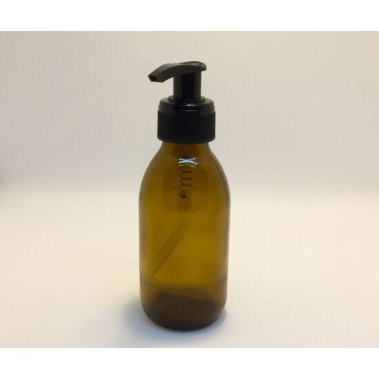 Üveg barna tároló pumpával DIN 28 150ml
