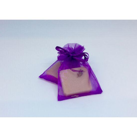 Natúr szappan - Mini Levendula, organza tasakban 15g