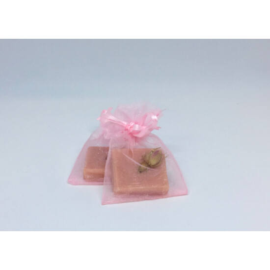 Natúr szappan - Mini Rózsa, organza tasakban 15g