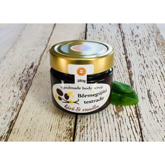 Bőrradír Kávés, vanília illattal, parajdi sóval, szőlőmag-, mandula- és olíva olajjal 280g
