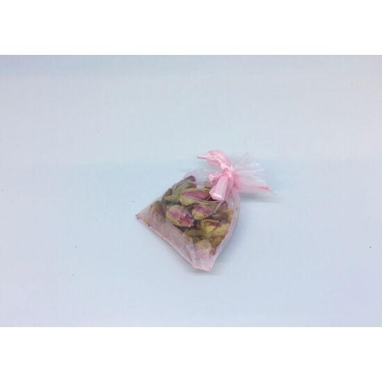 Illatos szárított rózsabimbók organza tasakban