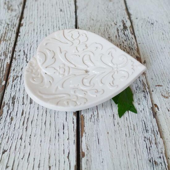 Kerámia szappantartó fehér szív