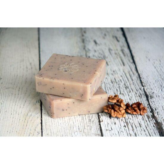 Natúr szappan - Diós-mákos, organikus ricinus-és dió olajjal 120g
