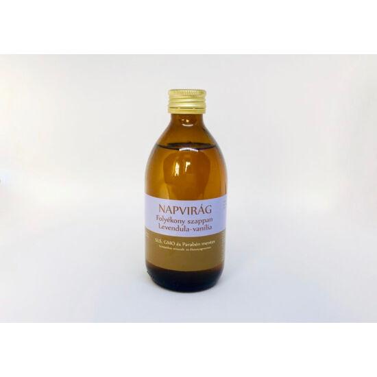 Natúr szappan - Folyékony, Bio olíva-; levendula olajjal és organikus vanília illóolajjal 300g