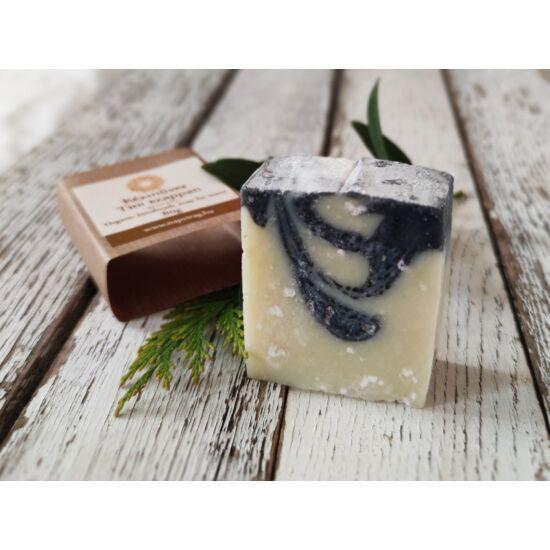 Natúr szappan - Tini arctisztító, aknés bőrre, szénnel és Holt-tengeri sóval, olíva-, ricinus olajjal 80g